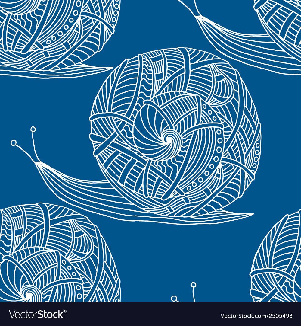 Snail seamless pattern vector   Price: 1 Credit (USD $1)