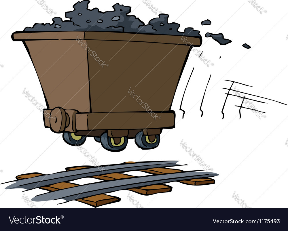Trolley with ore vector   Price: 1 Credit (USD $1)