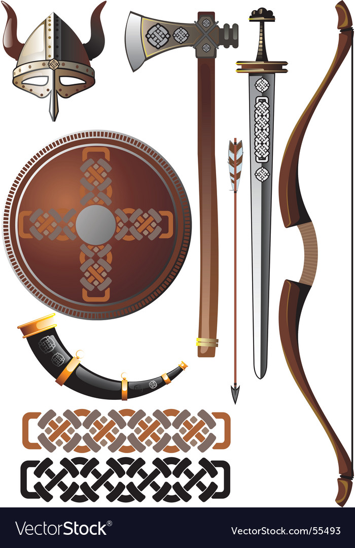 Viking set vector | Price: 3 Credit (USD $3)