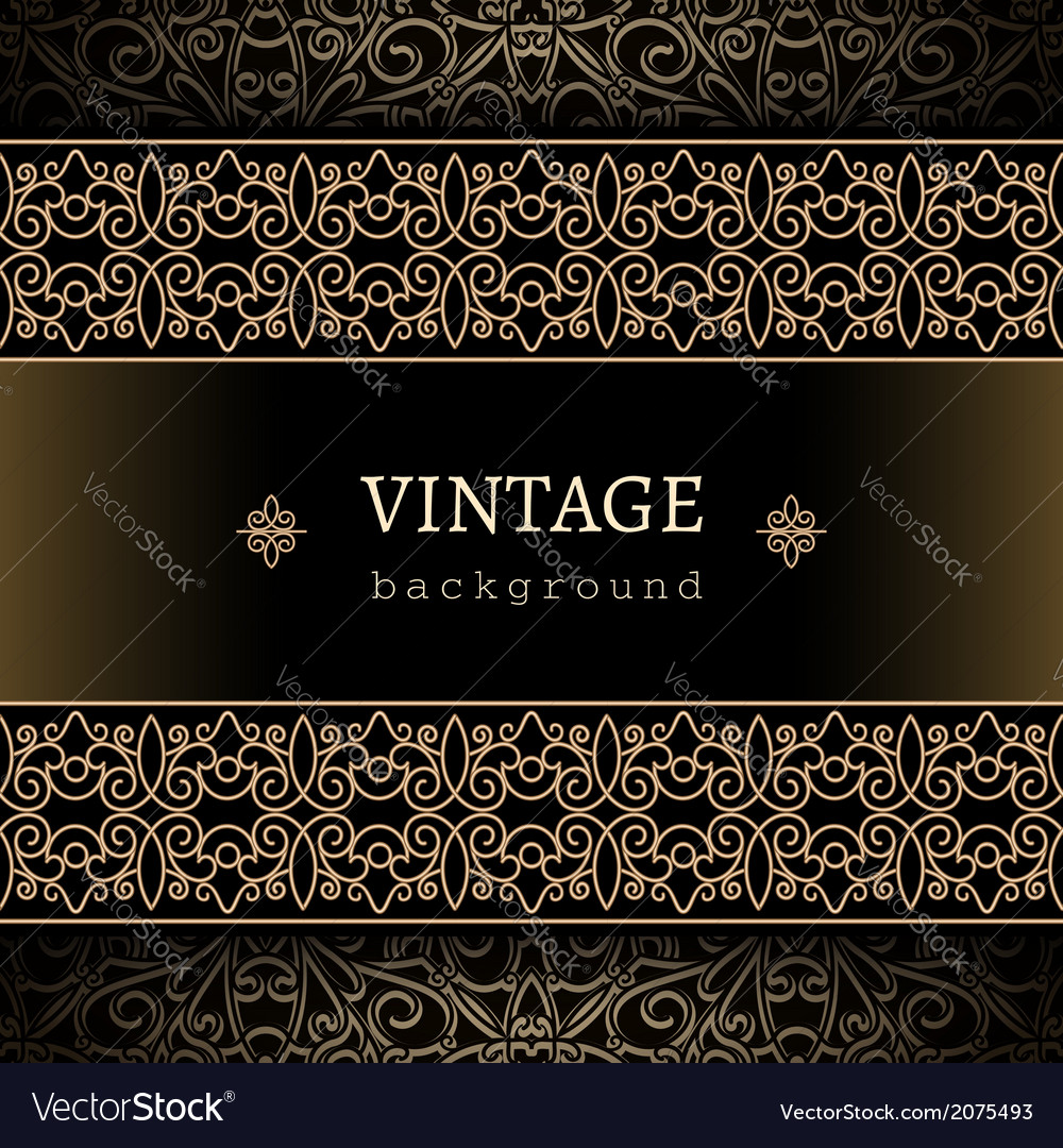 Vintage gold frame vector | Price: 1 Credit (USD $1)