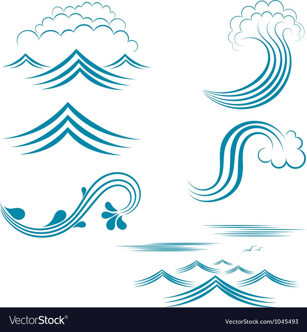 Water wave set vector   Price: 1 Credit (USD $1)