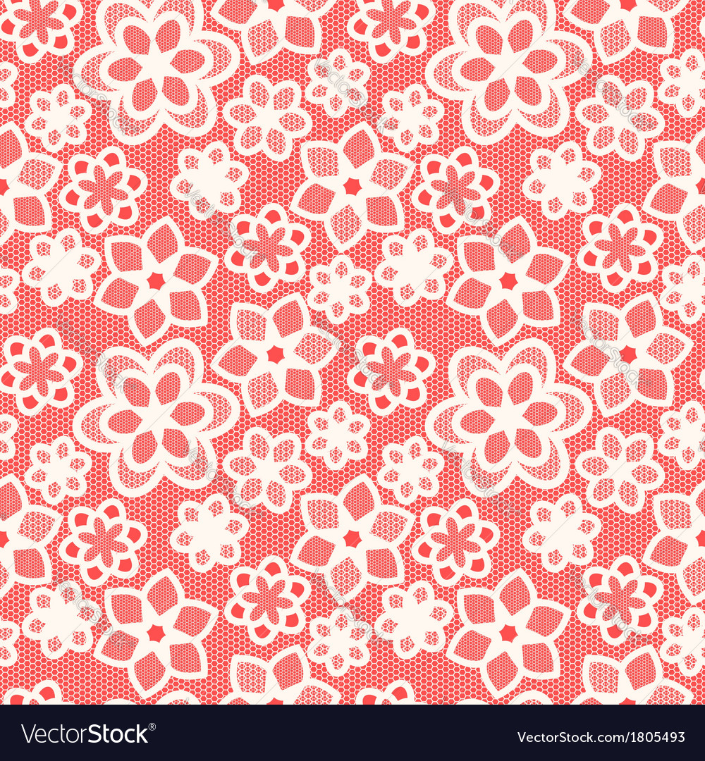 White flower lace on red background vector | Price: 1 Credit (USD $1)