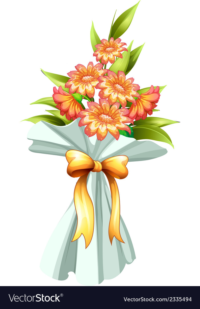 A boquet of fresh flowers vector | Price: 1 Credit (USD $1)