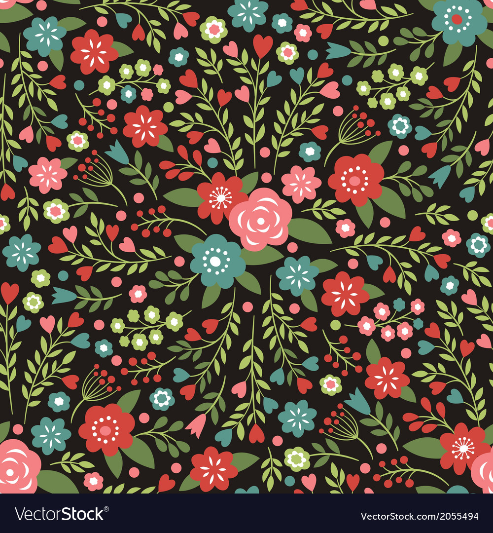Beauty floral pattern vector | Price: 1 Credit (USD $1)