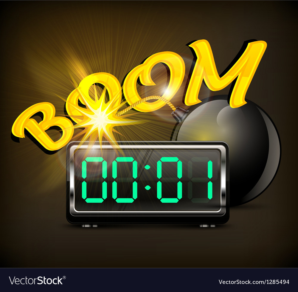 Bomb with timer vector | Price: 1 Credit (USD $1)