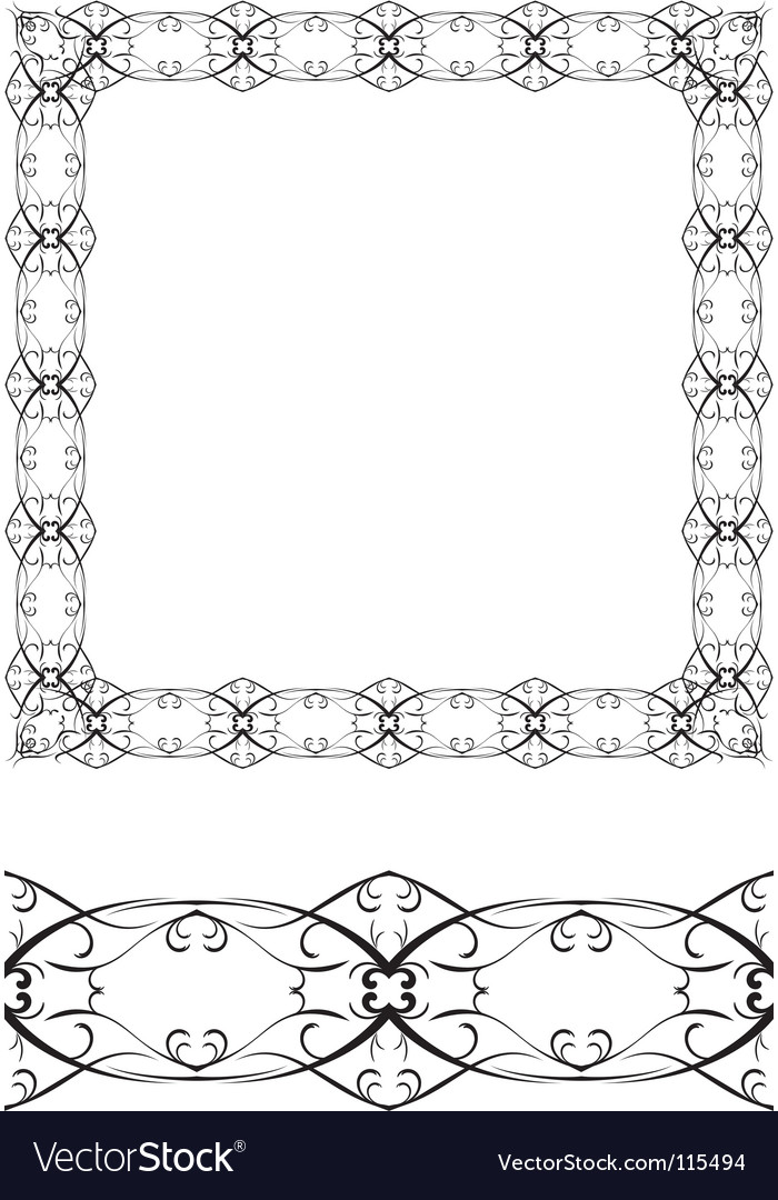 Frame and border vector | Price: 1 Credit (USD $1)