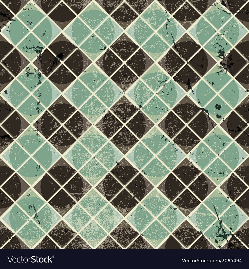 Geometric vintage seamless pattern with aged vector | Price: 1 Credit (USD $1)