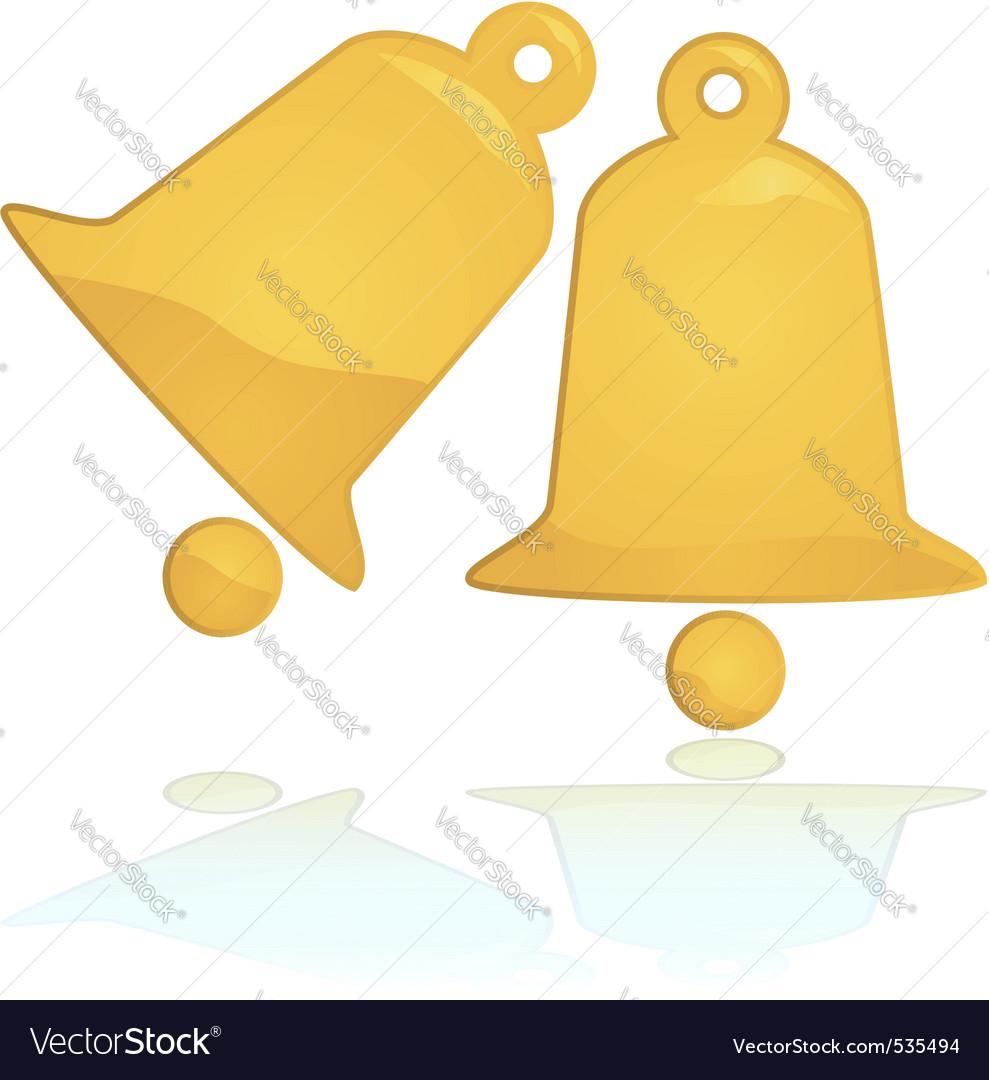 Golden christmas bells vector | Price: 1 Credit (USD $1)