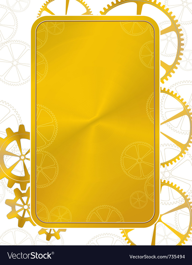 Golden frame gear vector | Price: 1 Credit (USD $1)