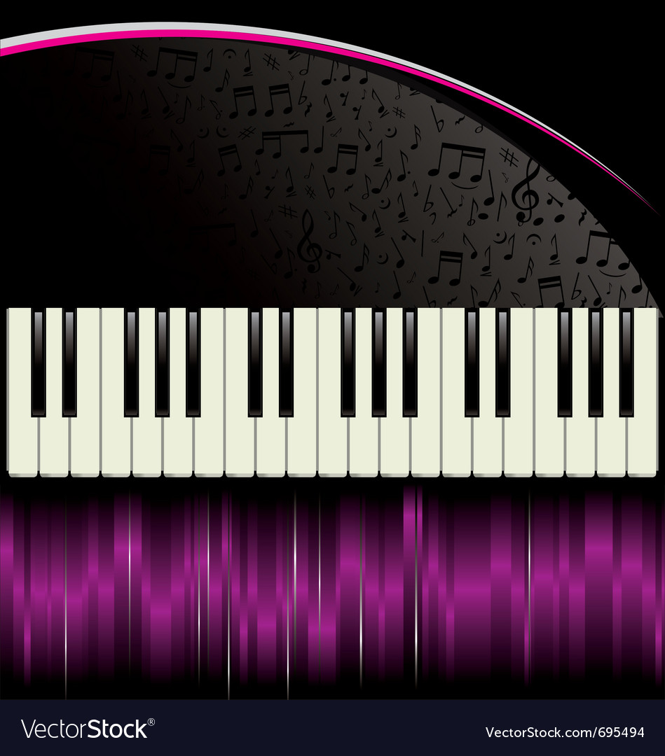 Piano purple background vector | Price: 1 Credit (USD $1)