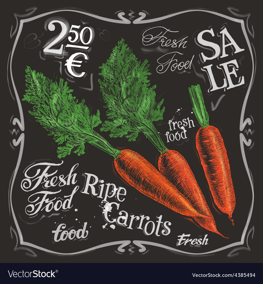 Ripe carrots logo design template fresh vector | Price: 3 Credit (USD $3)