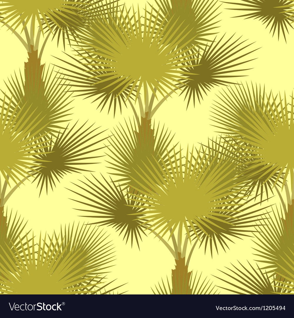 Seamless pattern of palm trees vector | Price: 1 Credit (USD $1)