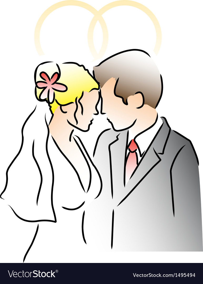Wedding ring couple vector | Price: 1 Credit (USD $1)
