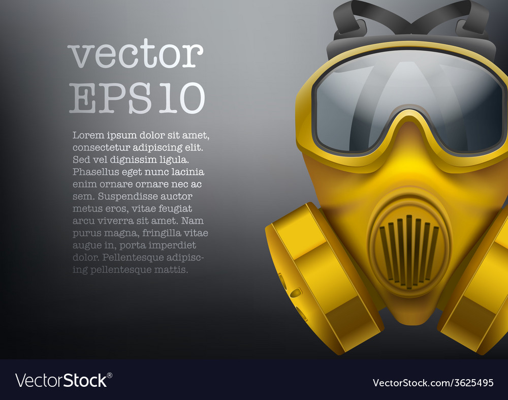 Background of safe chemical antiviral gas mask vector | Price: 1 Credit (USD $1)