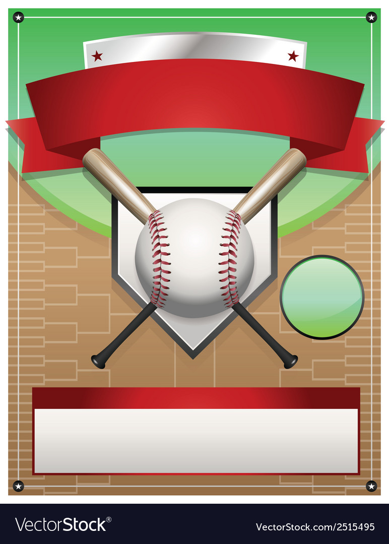 Baseball tournament flyer background vector | Price: 1 Credit (USD $1)