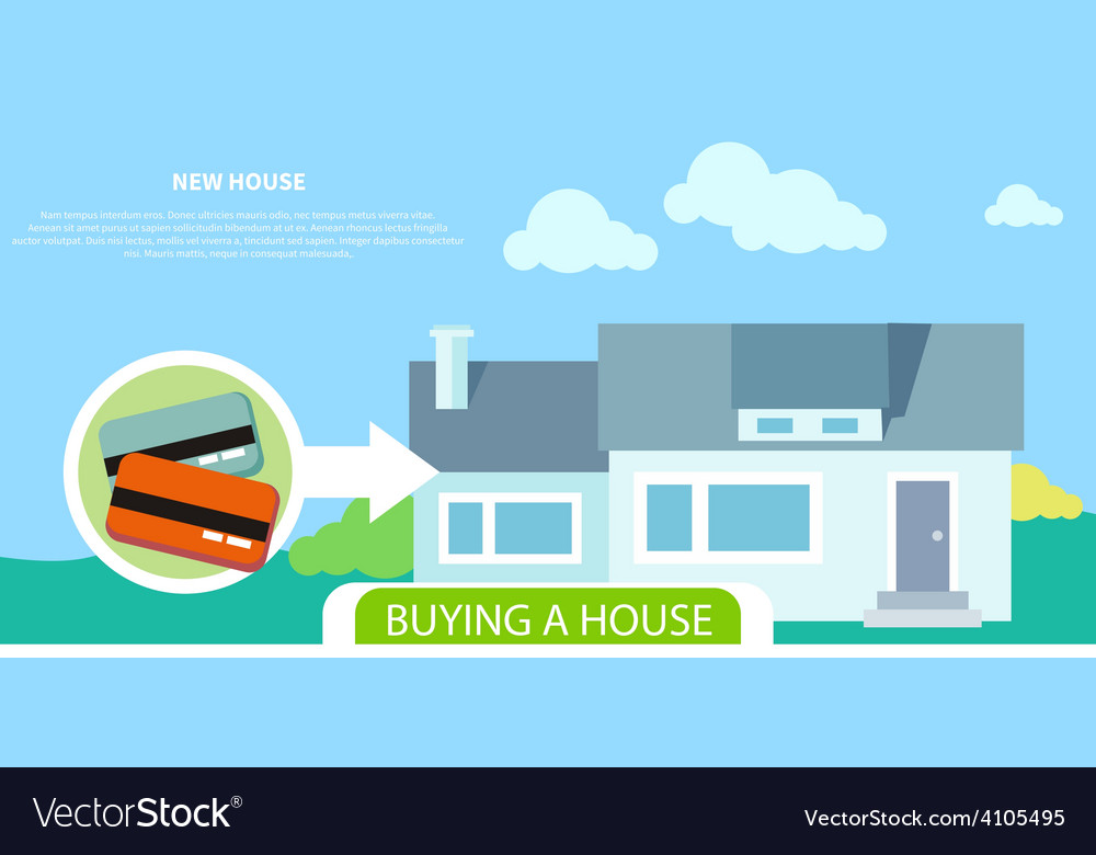 Buying house vector | Price: 1 Credit (USD $1)