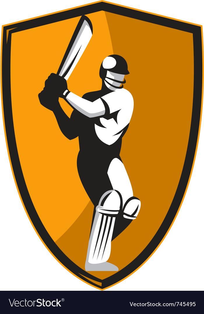 Cricket player batsman batting vector   Price: 1 Credit (USD $1)