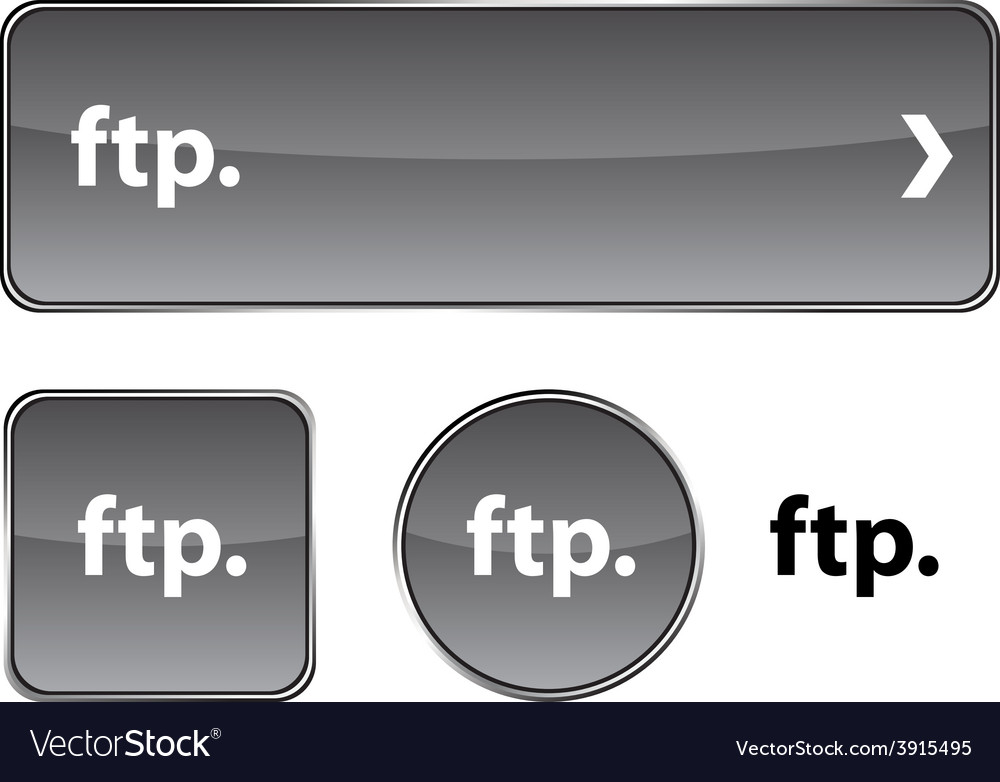 Ftp button set vector | Price: 1 Credit (USD $1)
