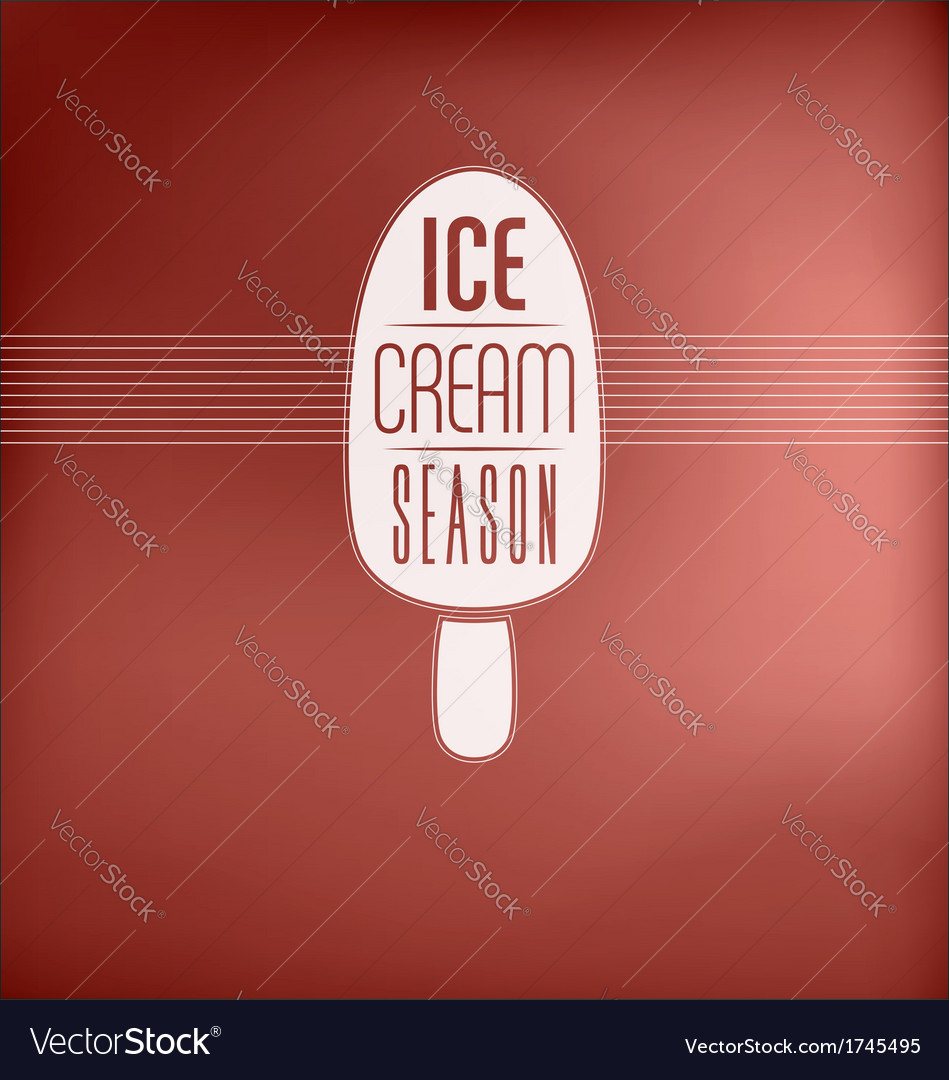 Ice cream sign vector | Price: 1 Credit (USD $1)