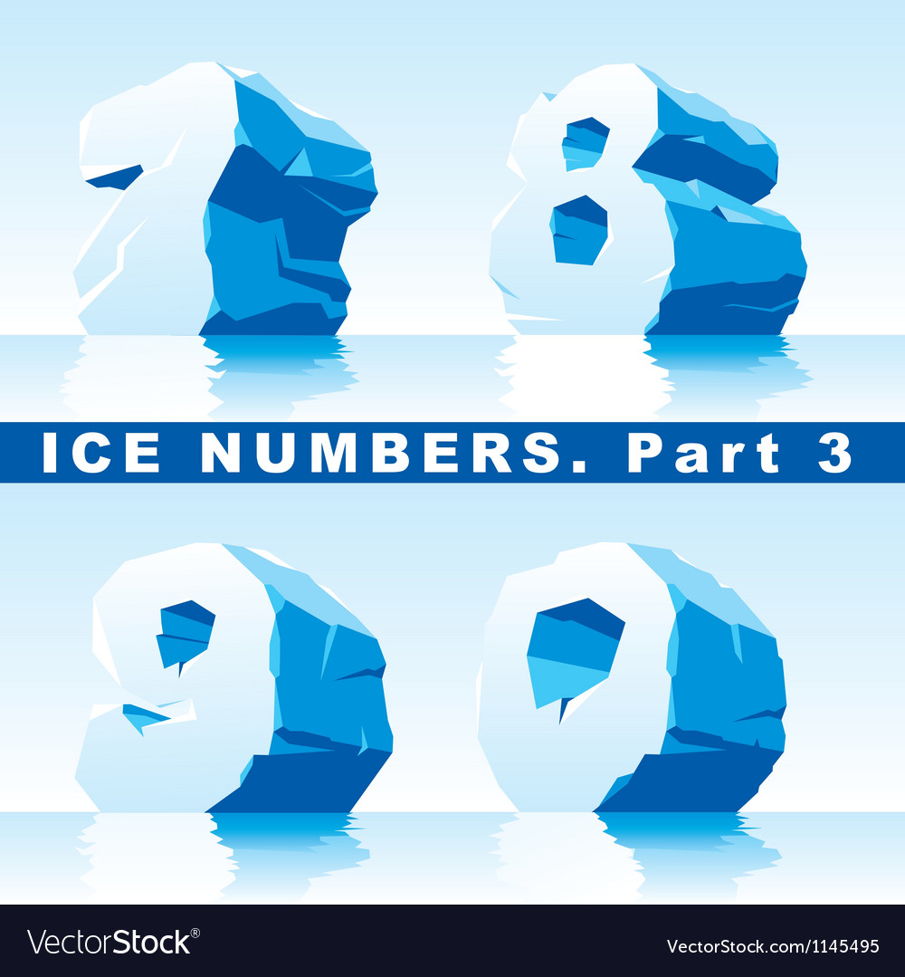 Ice numbers part 3 vector | Price: 1 Credit (USD $1)