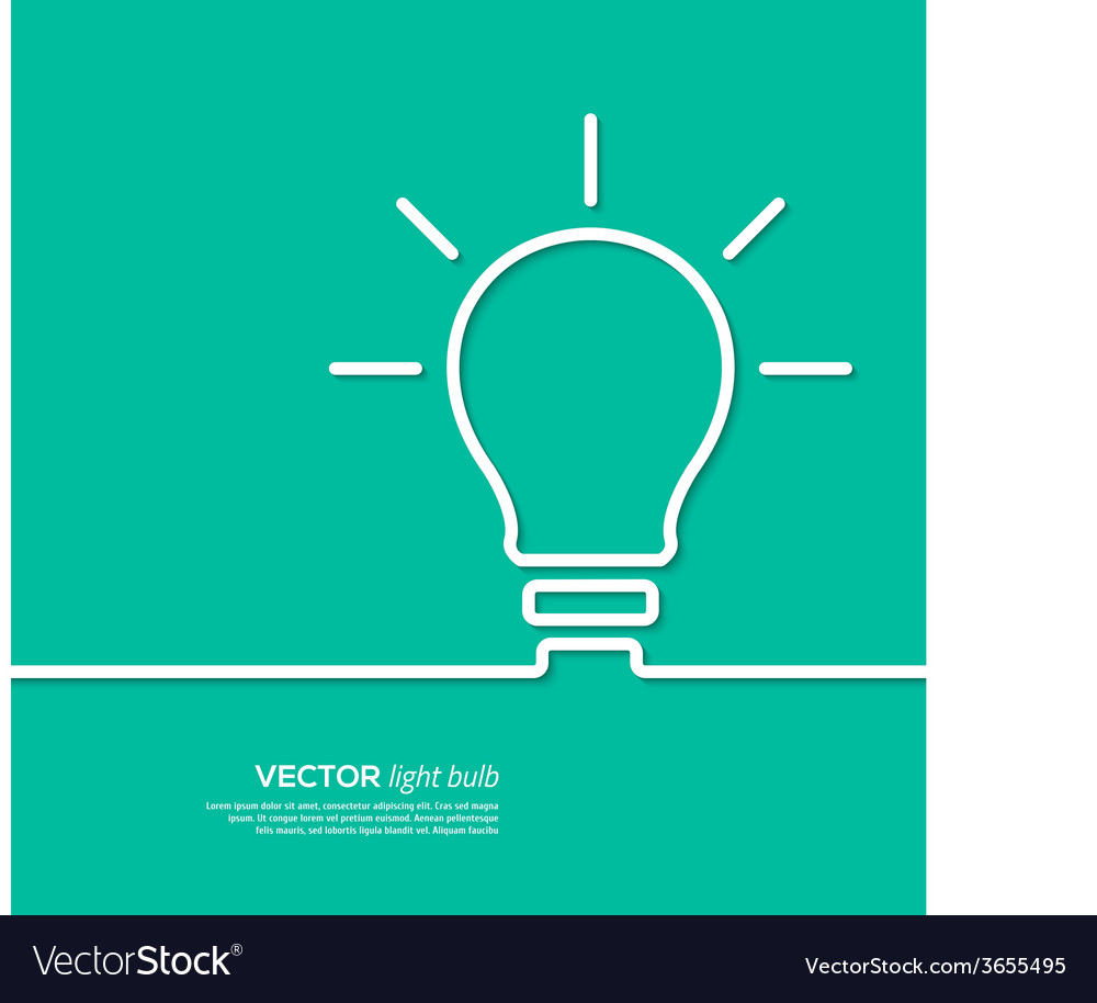 Light bulb idea concept template vector | Price: 1 Credit (USD $1)