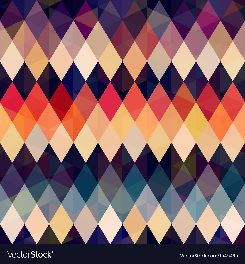 Seamless retro diamond background vector