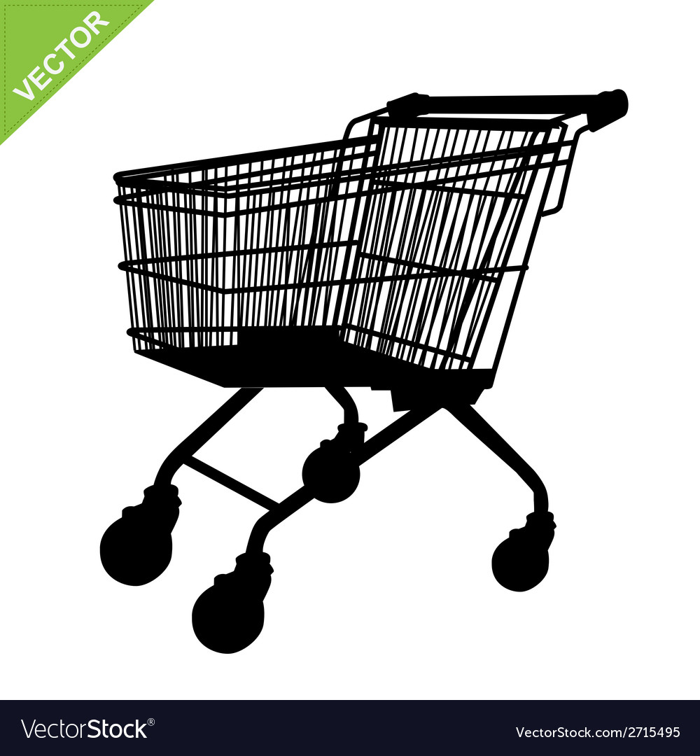 Shopping cart silhouette vector | Price: 1 Credit (USD $1)