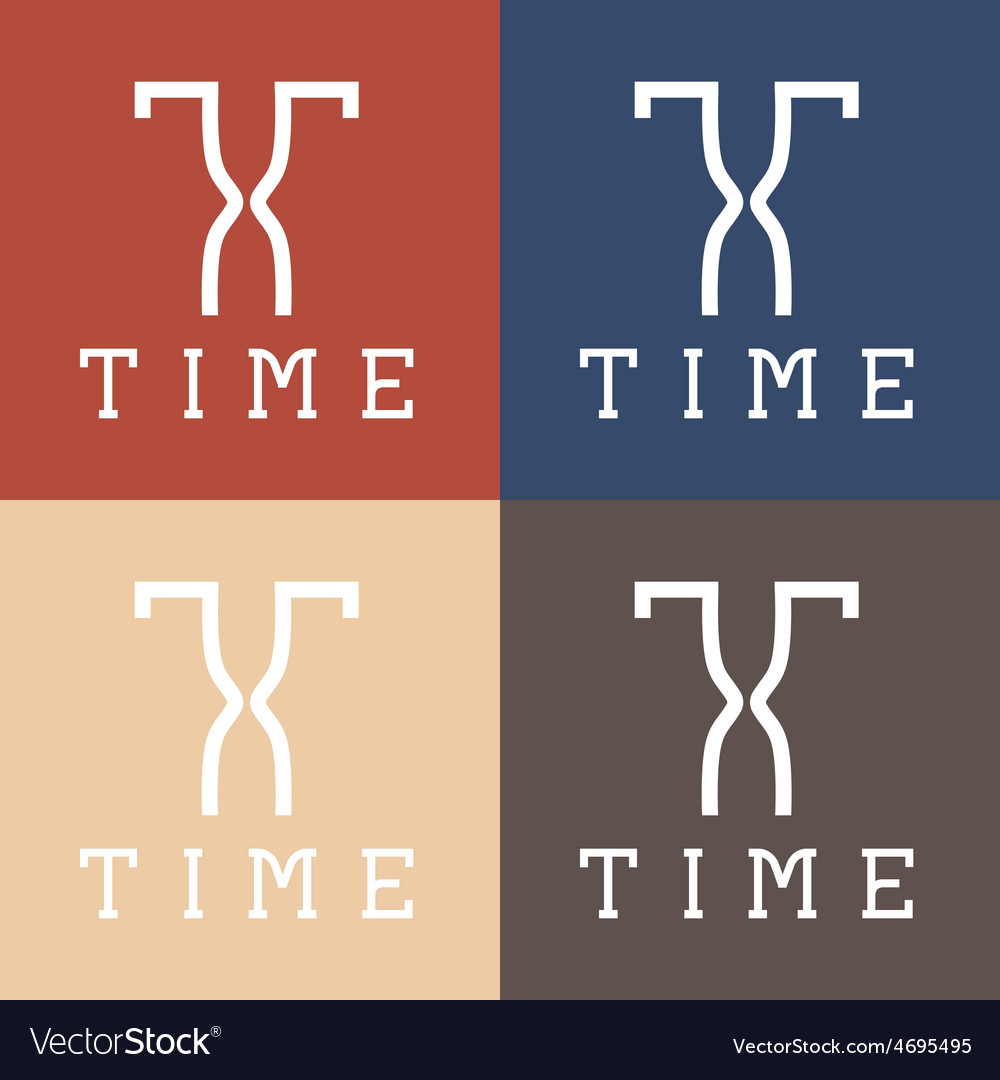 Time monogram vector | Price: 1 Credit (USD $1)