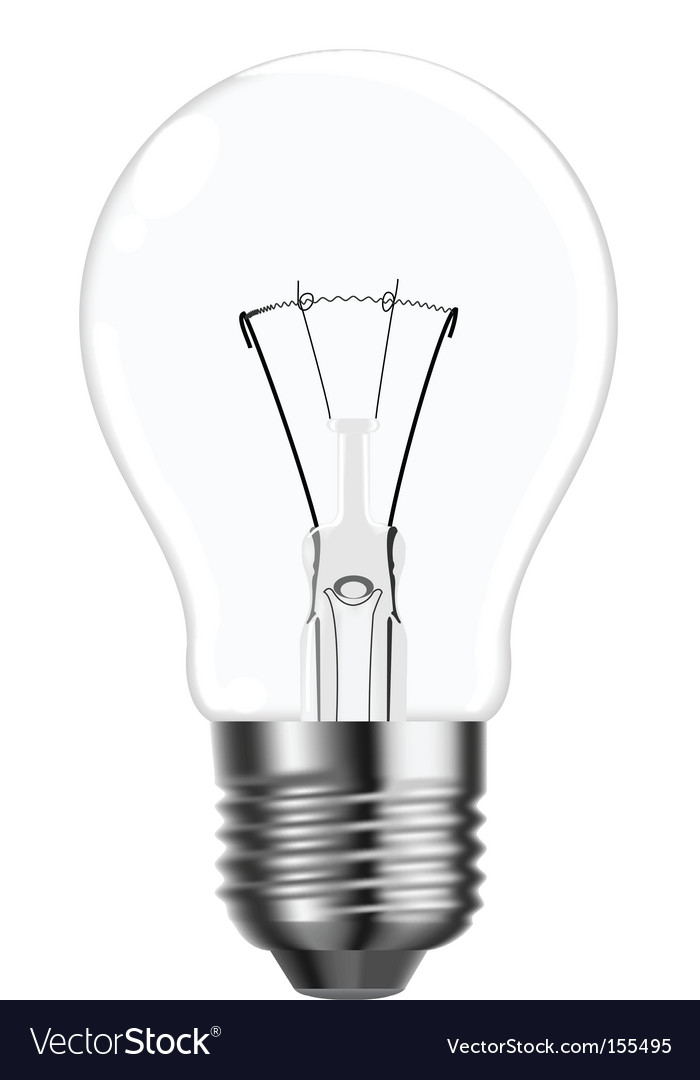 Tungsten light bulb vector | Price: 1 Credit (USD $1)
