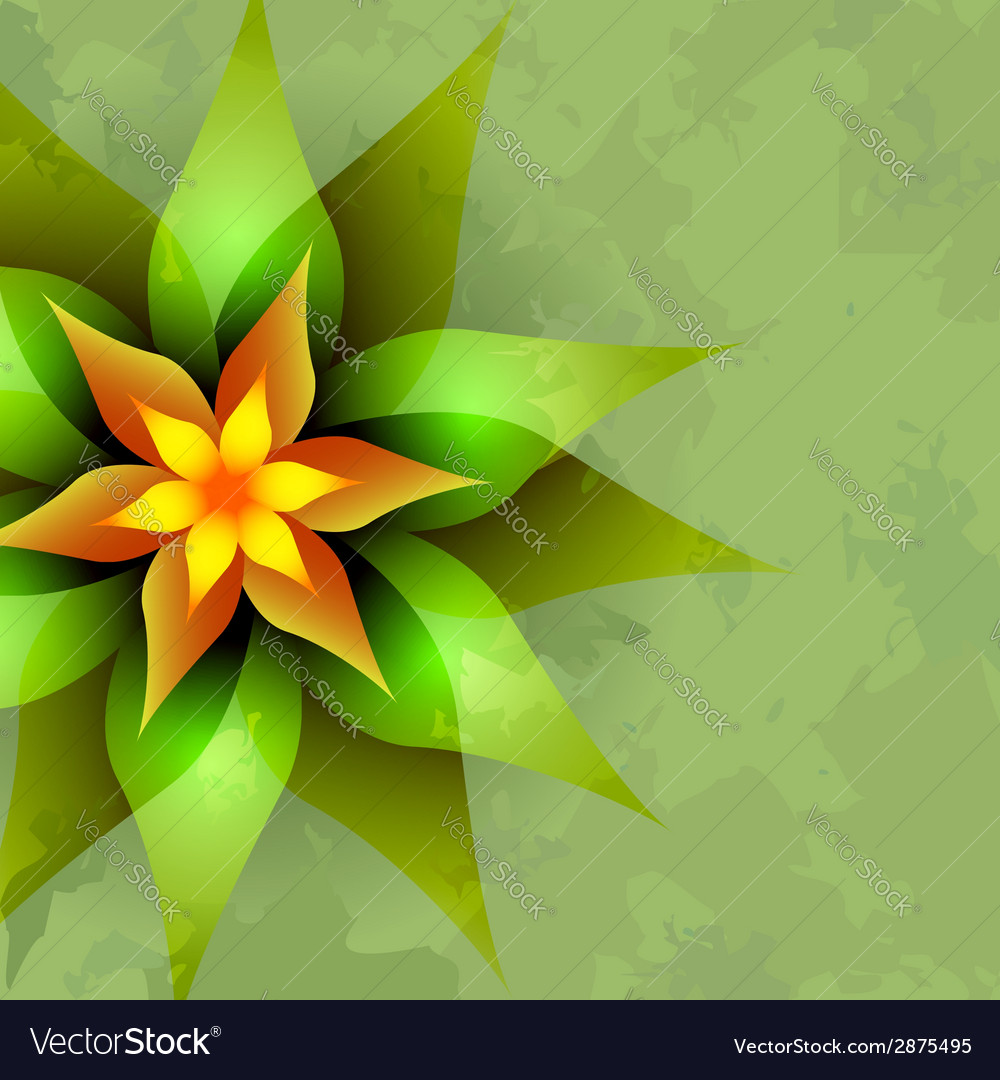 Vintage background with abstract flower vector | Price: 1 Credit (USD $1)