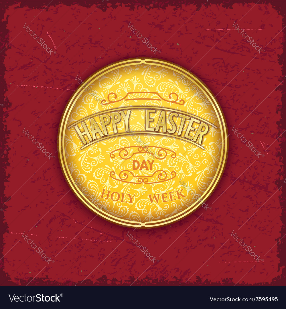 Vintage design themed medallion vector | Price: 1 Credit (USD $1)