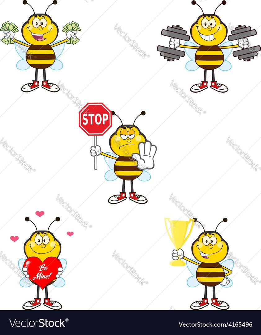 Cartoon bees vector | Price: 1 Credit (USD $1)