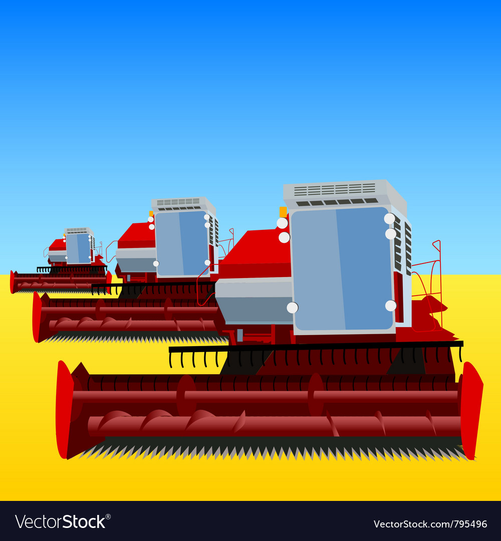 Combine harvester vector | Price: 1 Credit (USD $1)