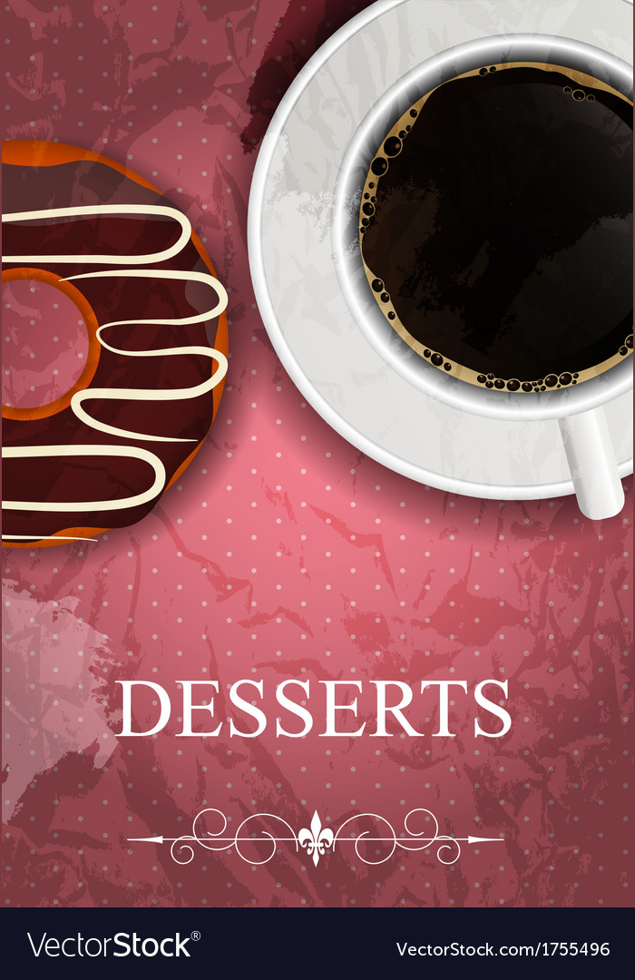 Dessert menu in grunge vintage style vector   Price: 1 Credit (USD $1)