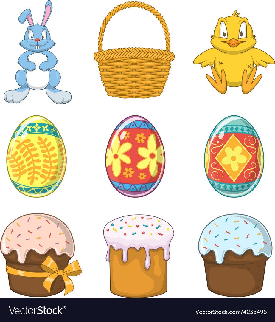 Easter holiday collection vector