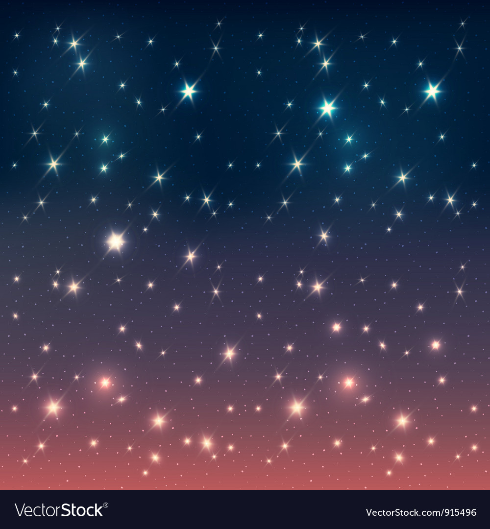 Night sky with stars vector | Price: 1 Credit (USD $1)