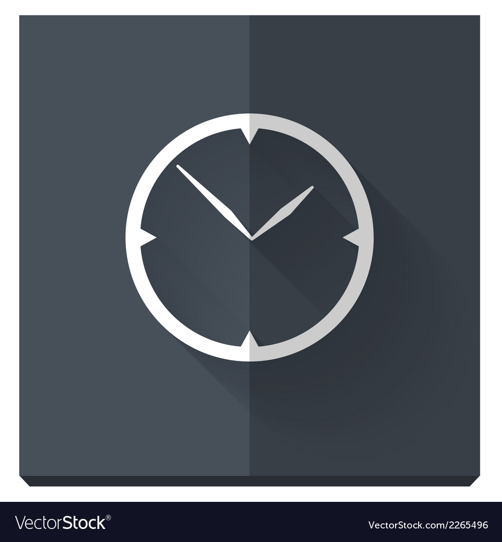 Paper flat icon with a shadow clock vector | Price: 1 Credit (USD $1)