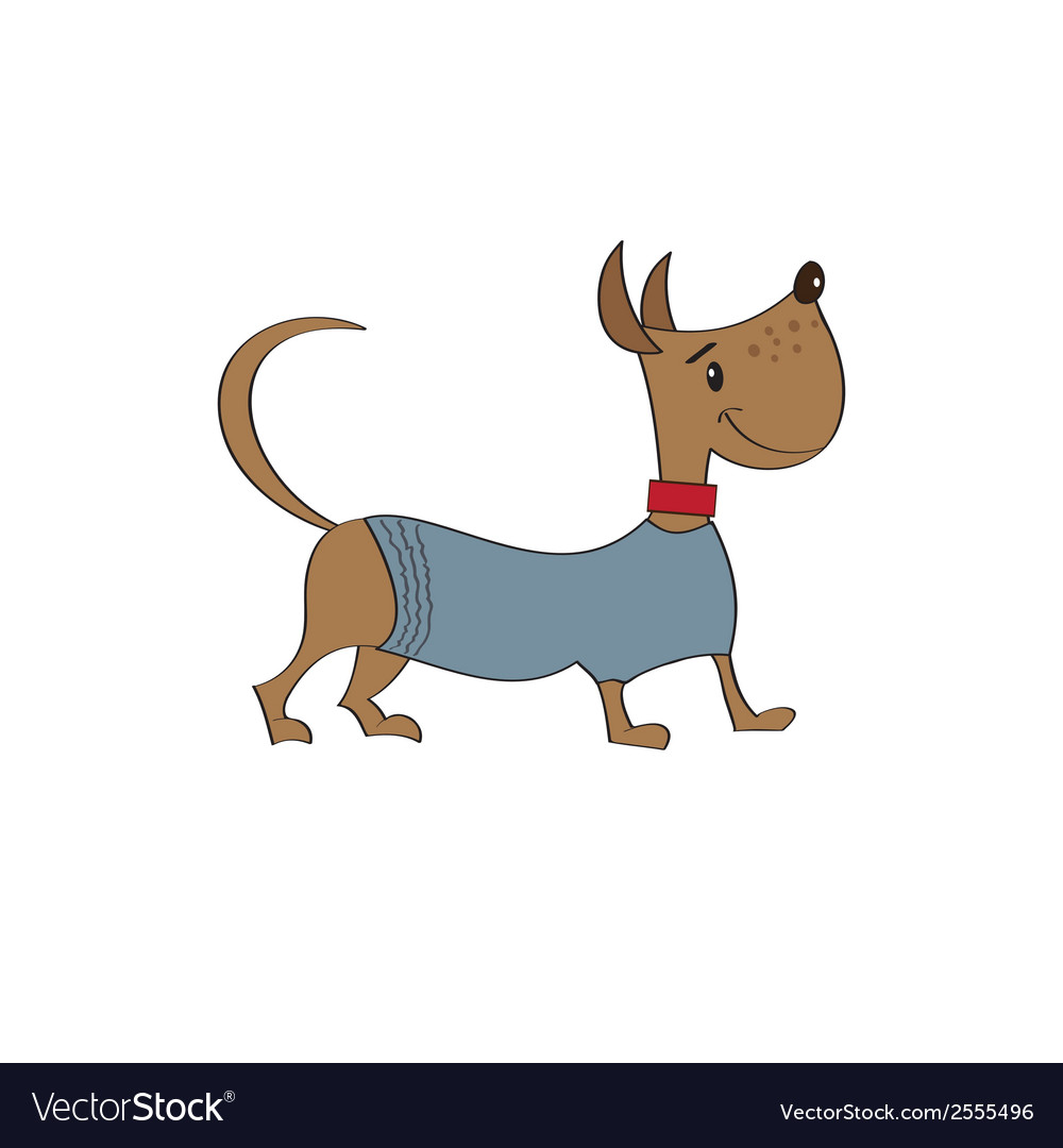 Puppy dressed in fancy winter jacket vector | Price: 1 Credit (USD $1)