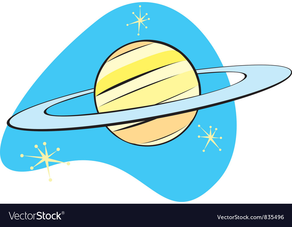 Saturn in space vector | Price: 1 Credit (USD $1)