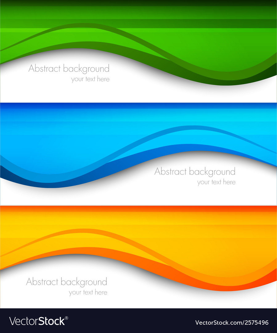 Set of wavy banners vector | Price: 1 Credit (USD $1)