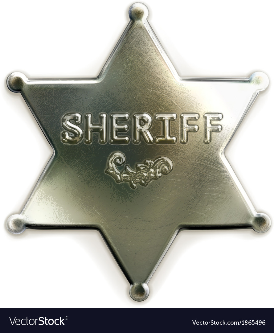 Sheriff star icon vector | Price: 1 Credit (USD $1)
