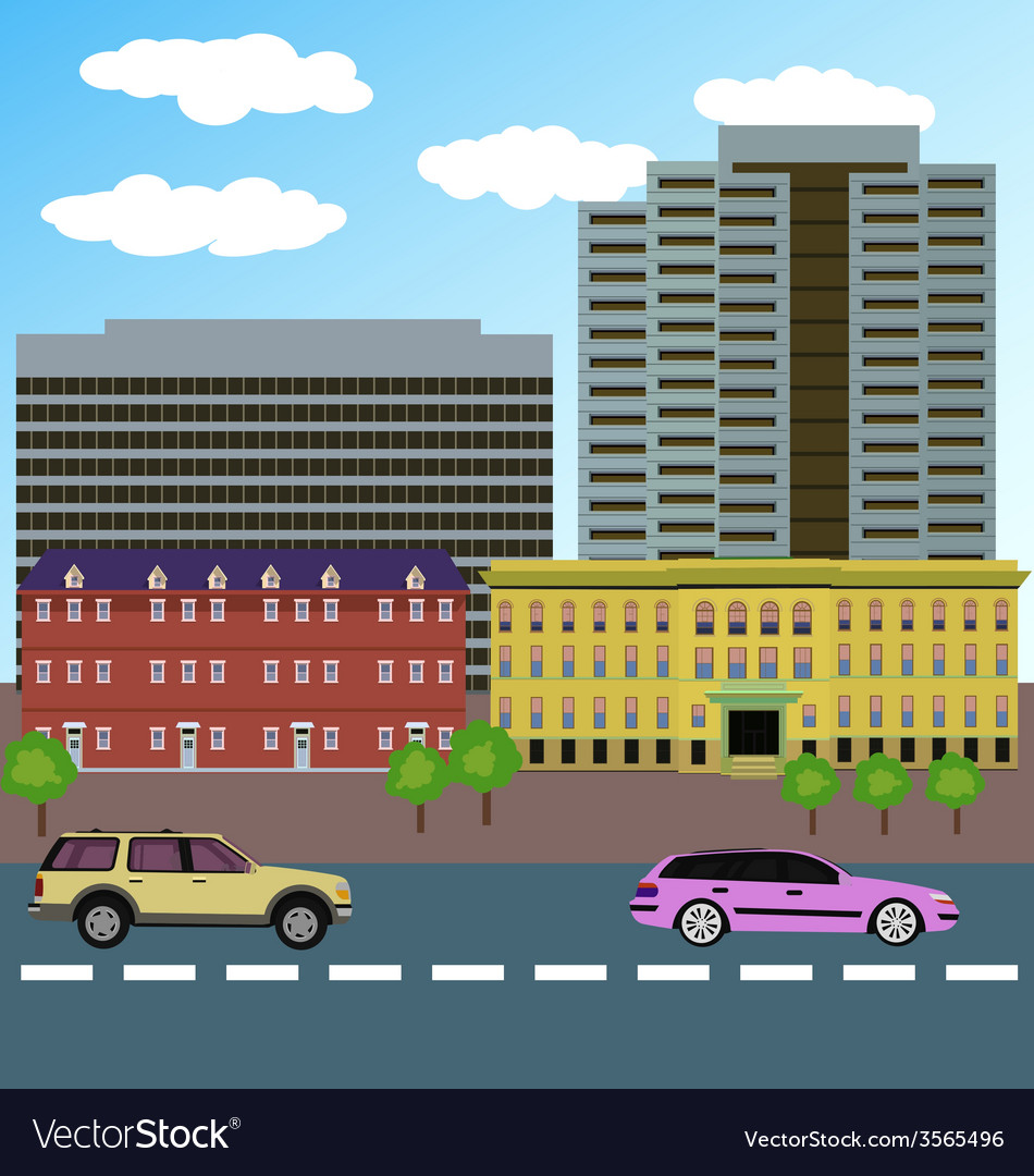 Urban landscape vector | Price: 1 Credit (USD $1)