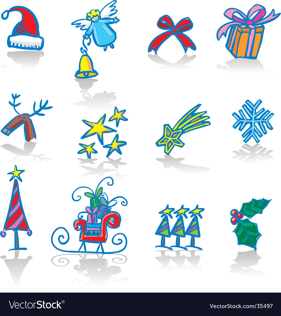 Christmas utilities vector | Price: 1 Credit (USD $1)