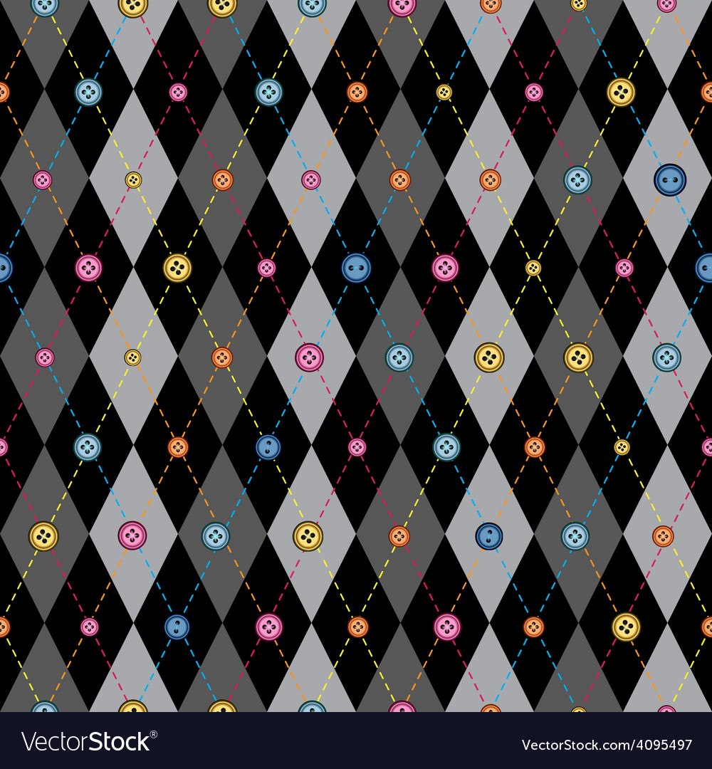 Classic argyle pattern in patchwork style vector | Price: 1 Credit (USD $1)