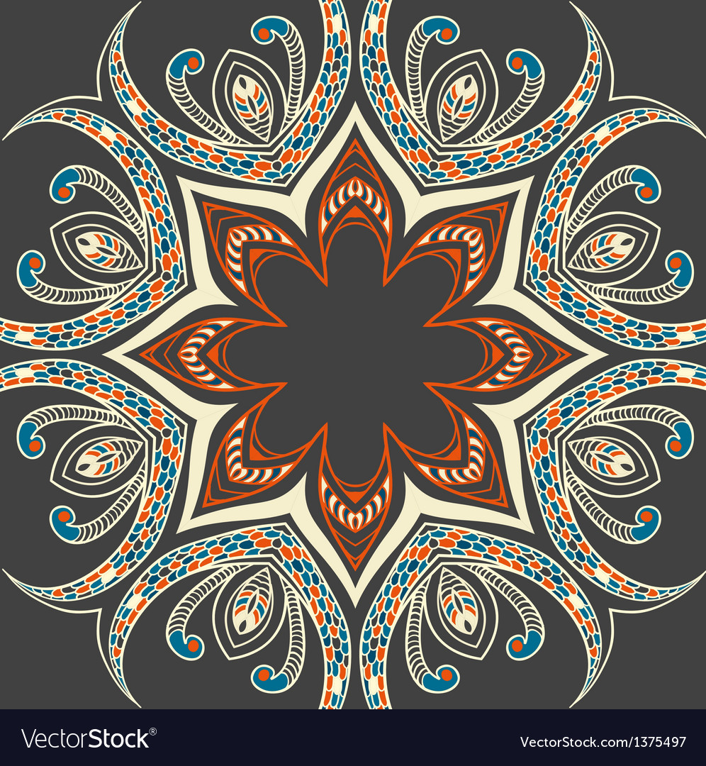 Colourful ornamental background vector | Price: 1 Credit (USD $1)