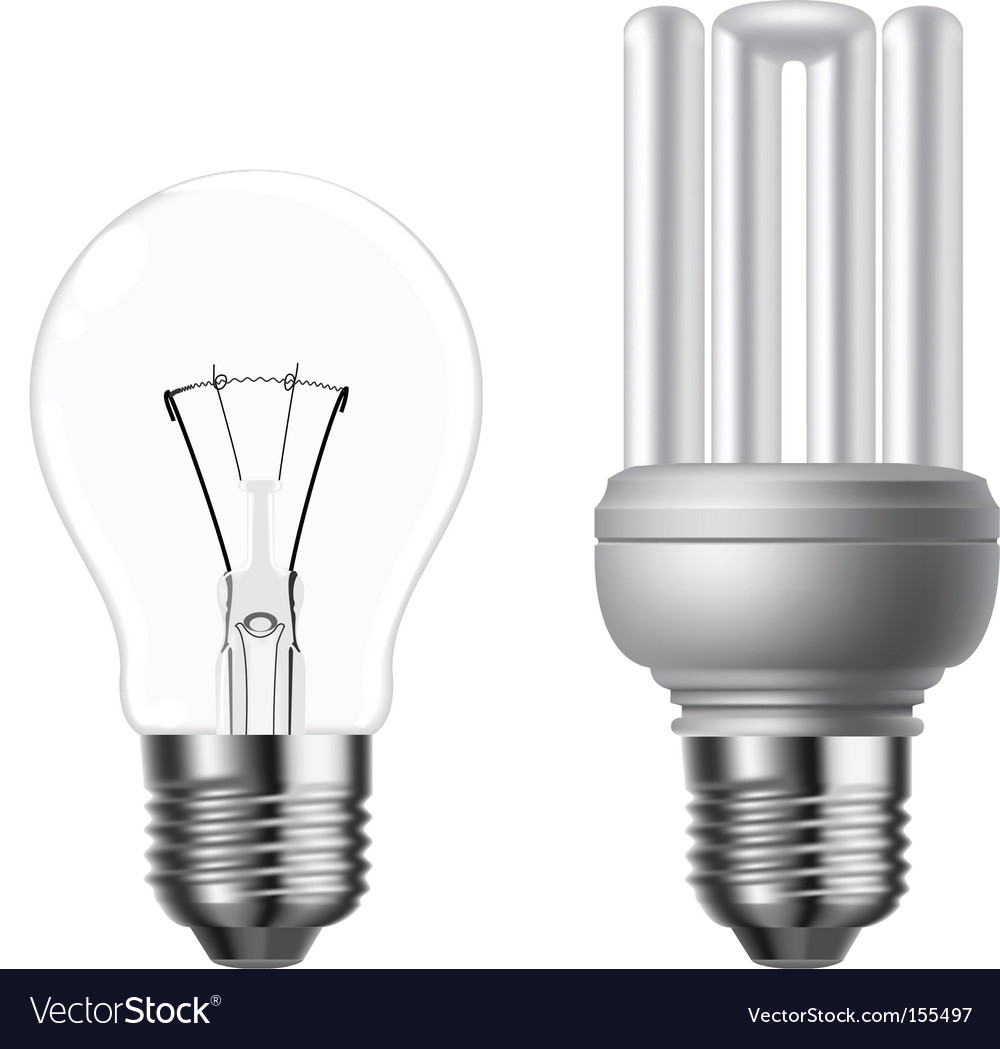 Eco light bulbs vector | Price: 1 Credit (USD $1)