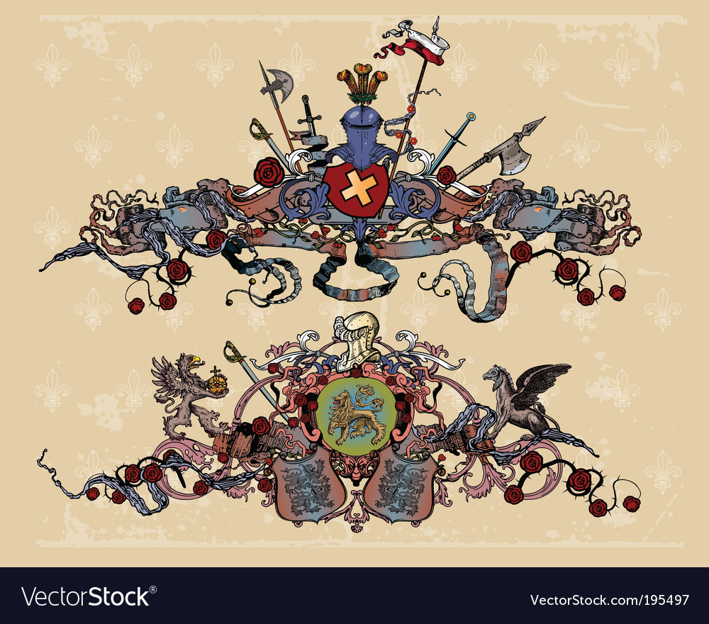 Heraldic elements vector | Price: 3 Credit (USD $3)