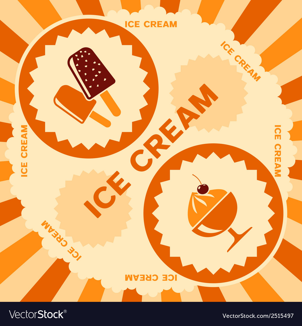 Ice cream label design vector | Price: 1 Credit (USD $1)