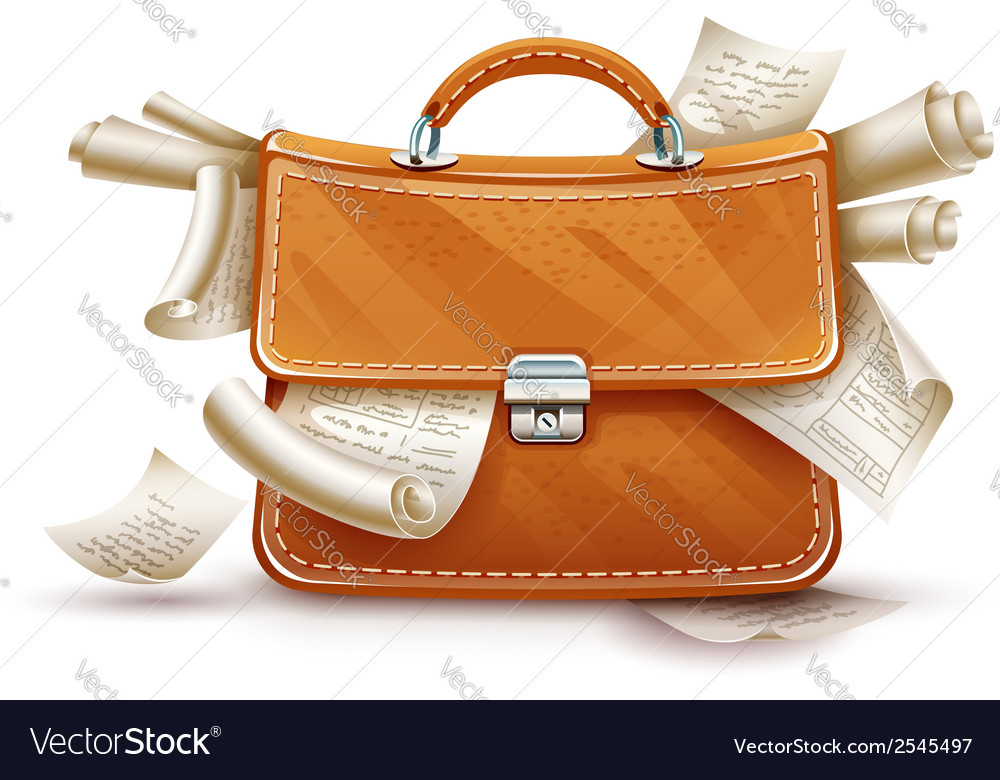Leather briefcase full of vector | Price: 3 Credit (USD $3)