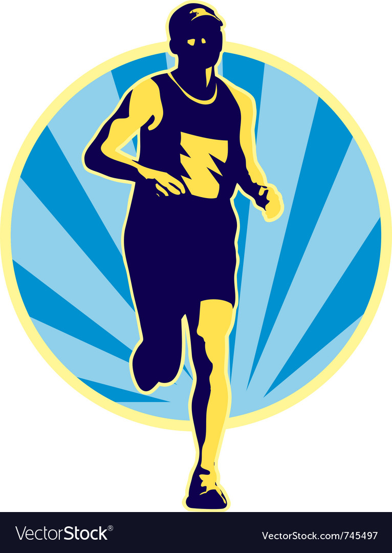 Marathon runner running jogging vector | Price: 1 Credit (USD $1)